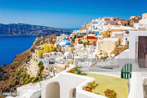 (Ia) aldea de Oia en la isla de Santorini, Grecia