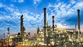 Oil and gas industry - refinery, factory, petrochemical plant