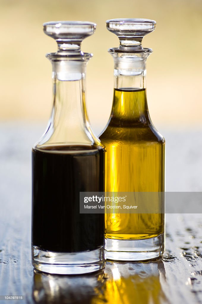 Oil and vinegar at safari lodge in Africa. : Stock Photo