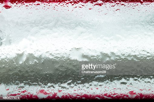 Oil and water droplets : Stock Photo