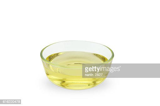oil bowl isolated on white background : ストックフォト