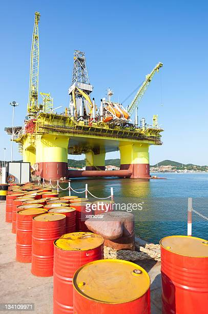 oil drill platform for deep sea