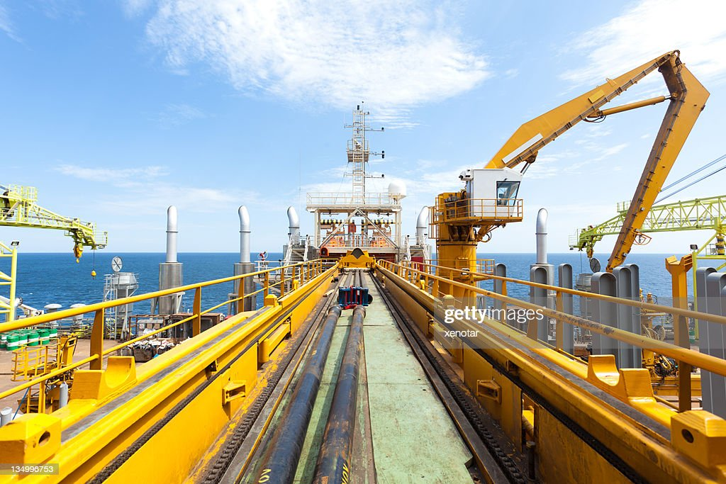 oil drill platform's Pipeline in deep sea