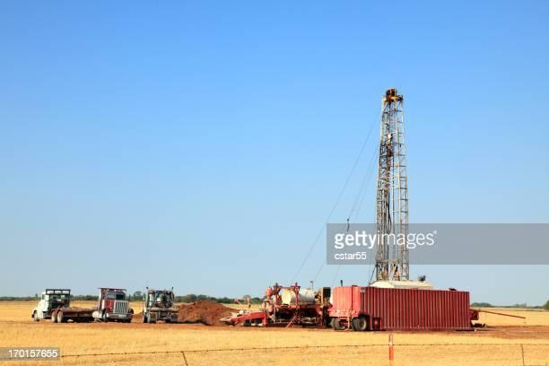 石油掘削装置のフィールド