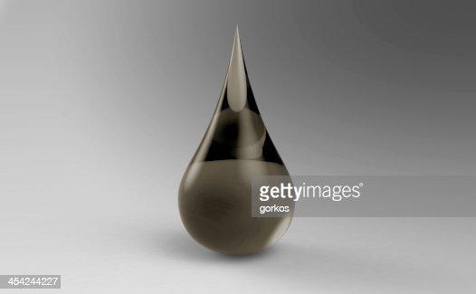 Oil drop on the white background : Stock Photo