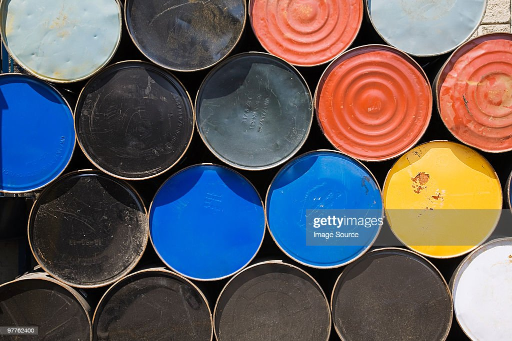 Oil drums : Stock Photo