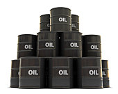 Oil drums stacked on top of each other