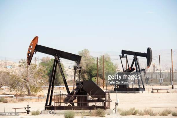 Oil field and Oil Pump near Bakersfield, California, USA