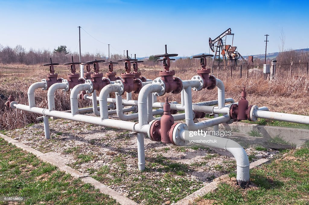 oil (petroleum) field : Stock Photo