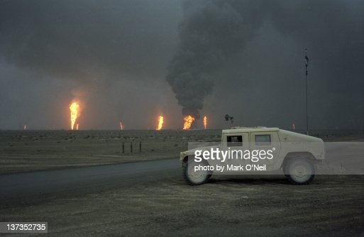 Oil Fires in Kuwait : Stock Photo