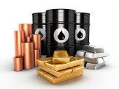 'Oil, gold,platinum and copper'