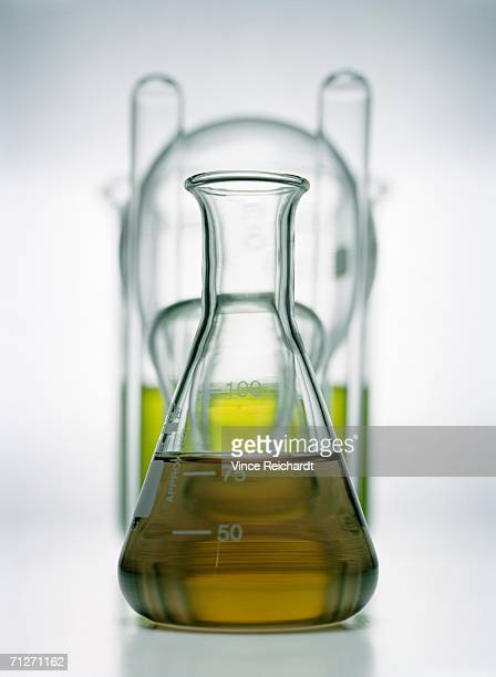 Oil in a bottle.