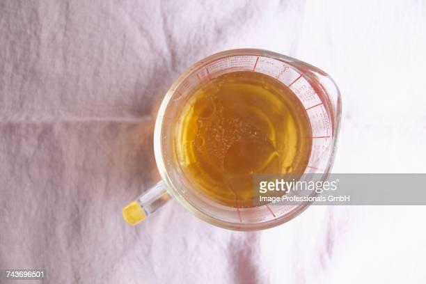 Oil in a measuring jug