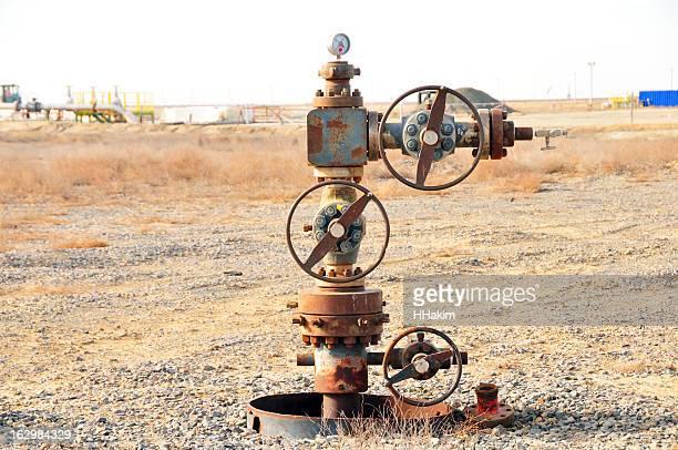 Oil industry: Abandoned wellhead