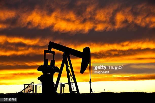 Industria petrolera silueta