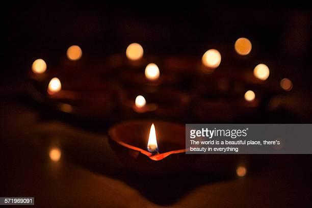 Oil lamp during Diwali