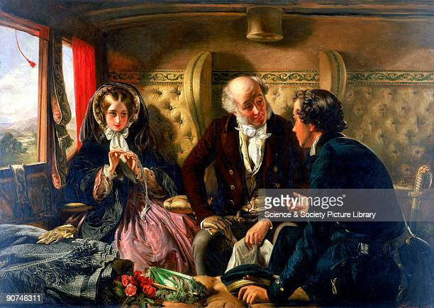 Oil painting by Abraham Solomon Solomon had already built up a reputation as an artist when in 1854 he turned to railway travel as a subject for his...