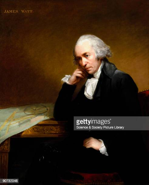 Oil painting by Carl Fredrik von Breda of James Watt the inventor of the improved steam engine and perhaps the greatest of British engineers This is...