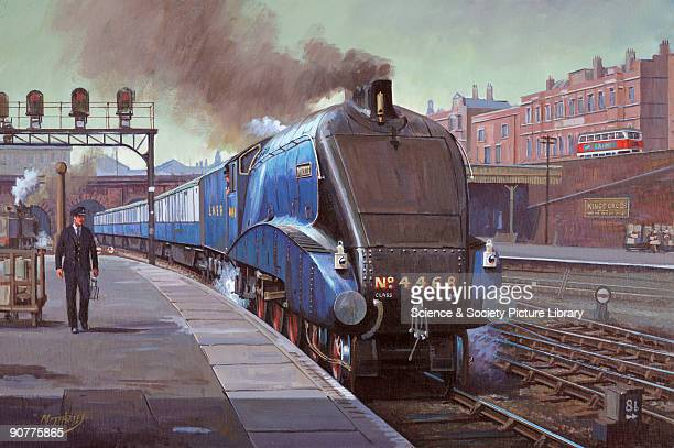Oil painting by Mike Jeffries of 2004 The A4 Pacific class Mallard was designed by Sir Nigel Gresley the chief engineer of the London North Eastern...