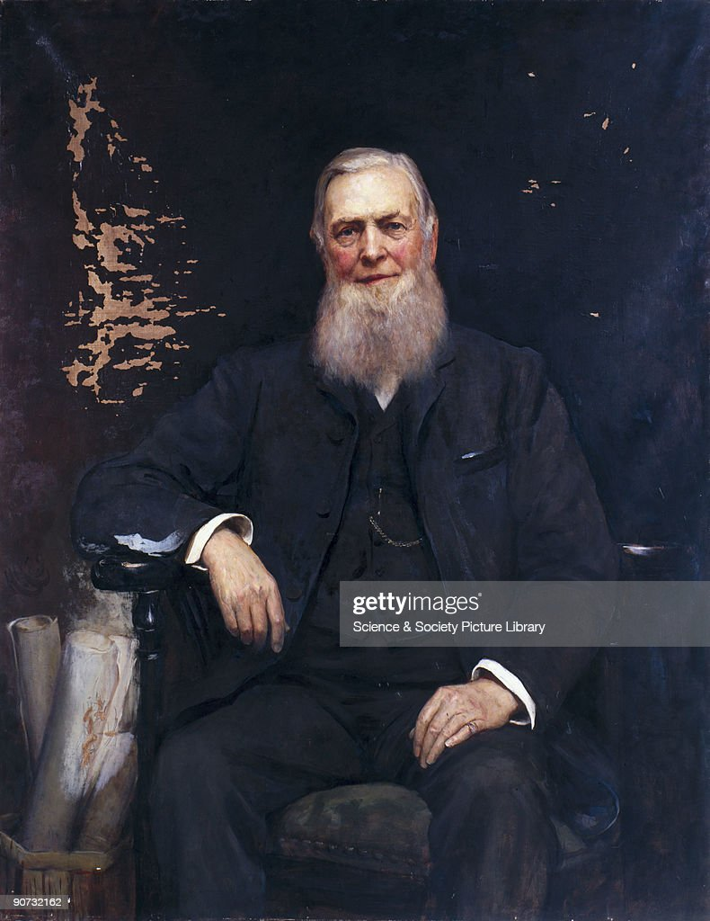 Oil painting by Sir Hubert von Herkomer (1849-1914) of William Cawkwell, general manager of the London & North Western Railway company. Herkomer was a German-born artist who moved to England in 1857 and produced social realist drawings before concentrating on portraiture in the 1880s.