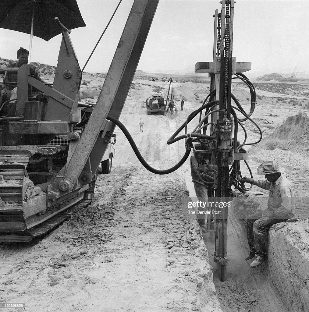 jul 23 1957 oil pipeline crews speed four corners job multiple jul 23 1957 oil pipeline crews speed four corners job multiple pneumatic drills swung