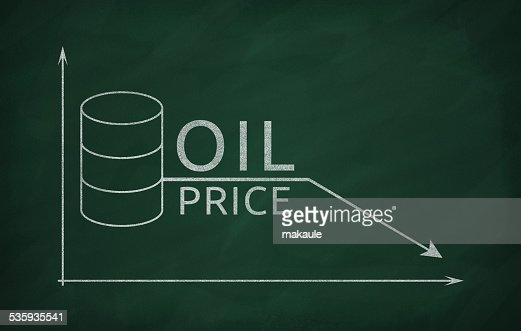 Oil prices in the market : Stock Photo