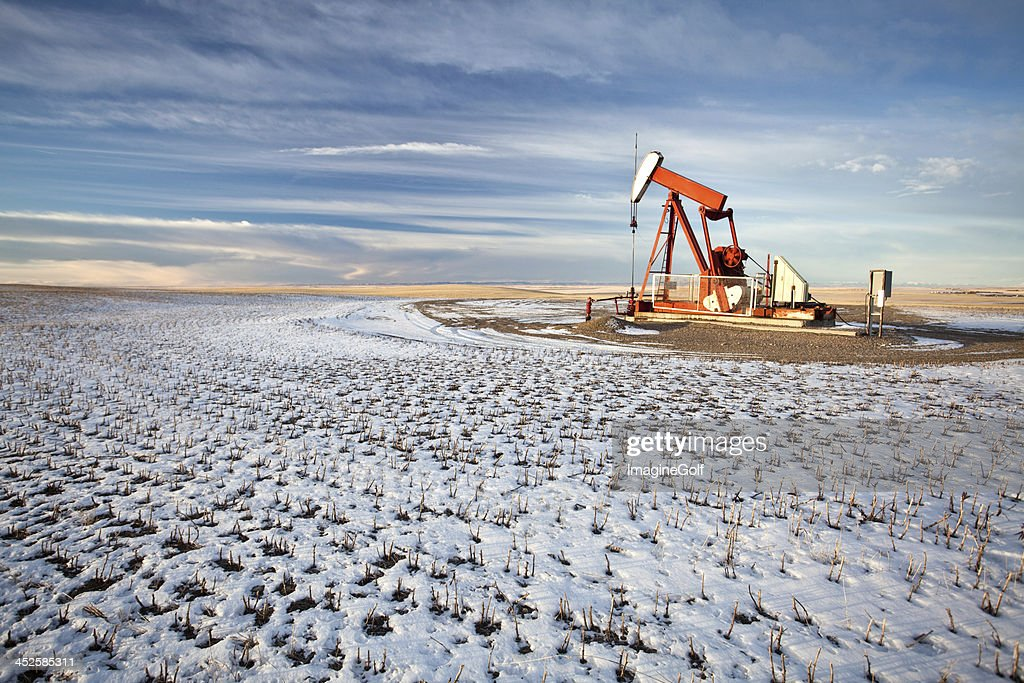 Oil Pumpjack in Southern Alberta