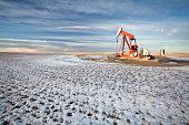 Oil Pumpjack in Southern Alberta