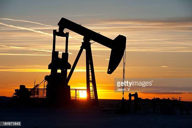 Oil Pumpjack Silhouette