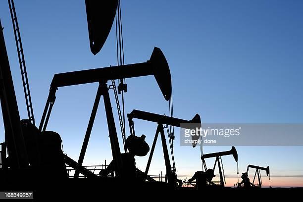 XXXL pumpjack siluetas de aceite