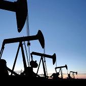 XXXL oil pumpjack silhouettes