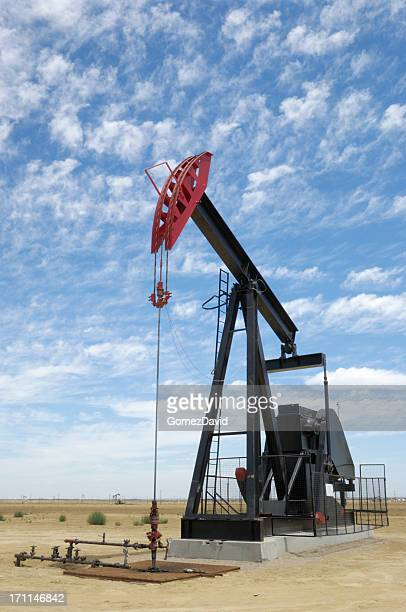 Oil Pumpjack with Clouds in Background