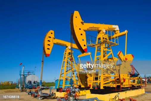 Oil pumps : Stock Photo