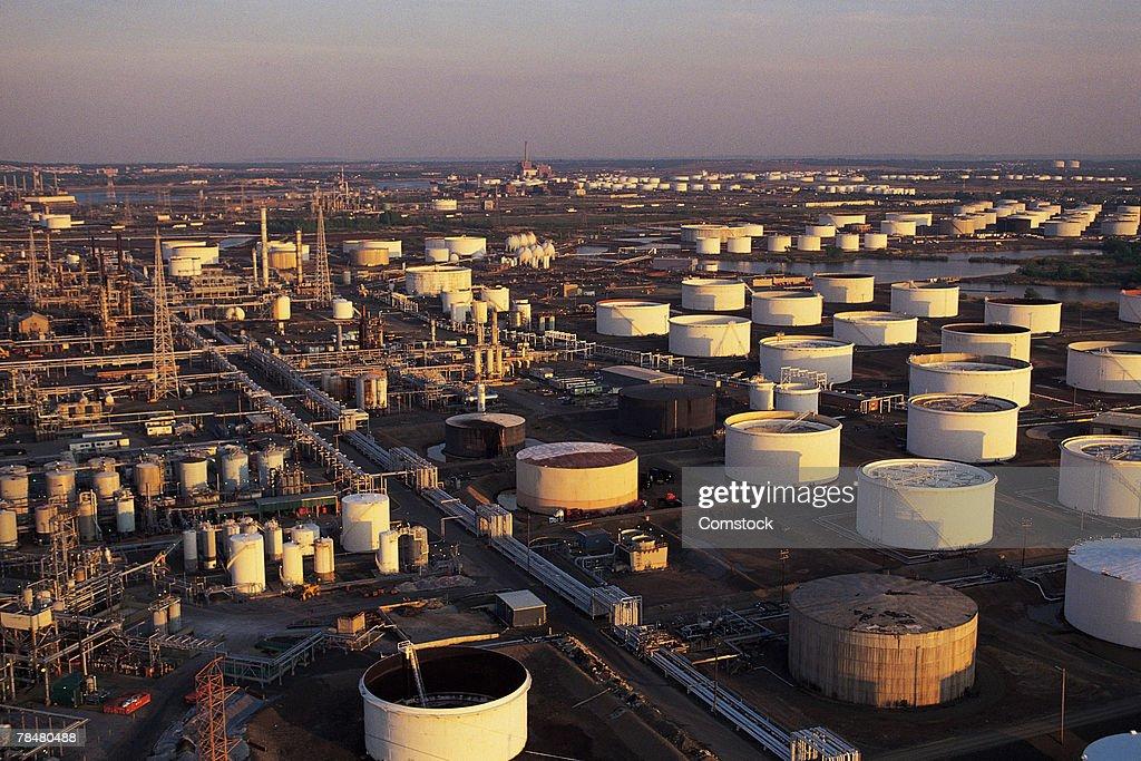 Oil Refinery And Storage Tanks , Linden , NJ , USA