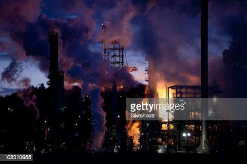 Raffineria di petrolio di combustione di gas naturale