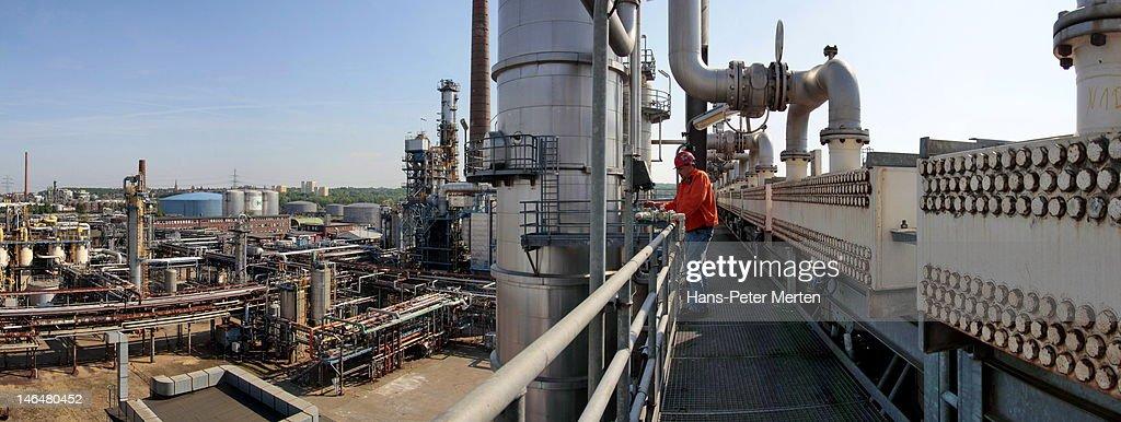 oil refinery : Stock Photo