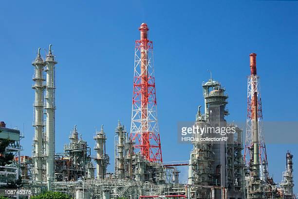 Oil refinery, Sakai City, Osaka Prefecture, Honshu, Japan