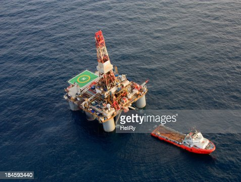 Oil Rig and Support Ship