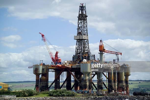 Oil Rig at repair yard