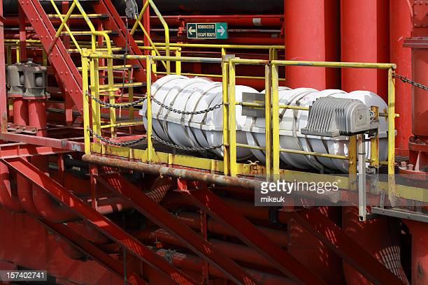 oil rig escape liferafts