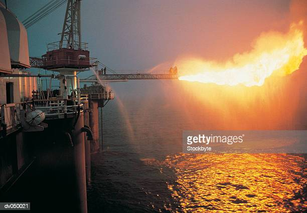 Oil rig flare