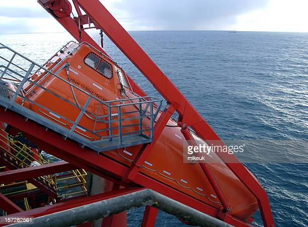 oil rig freefall emergency escape lifeboat