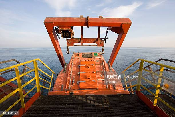 oil rig freefall escape lifeboat
