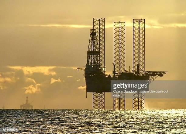 Oil rig in ocean