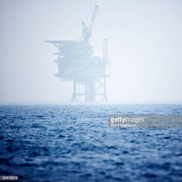 Oil rig in the sea, UK