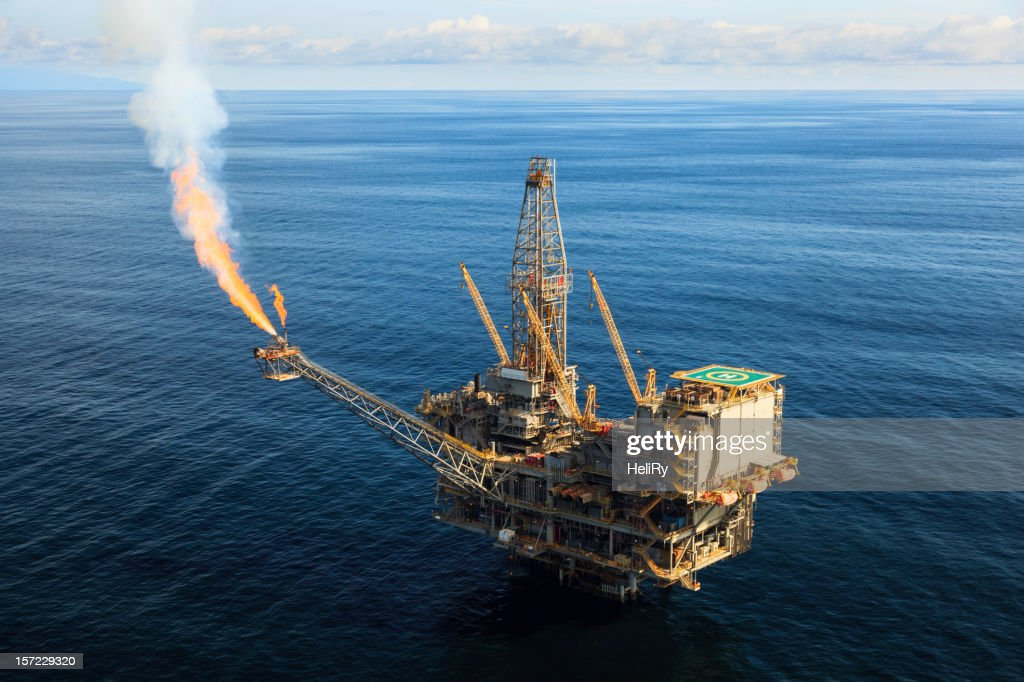 Oil Rig : Stock Photo
