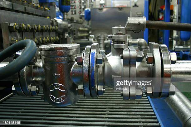 oil rig platform valves and pipes