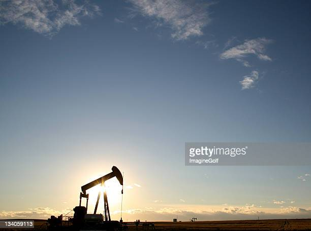 Oil Rig Pumpjack on the Canadian Prairie