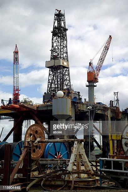 Oil rig repair yard