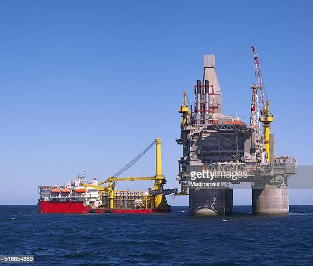 Plateforme pétrolière offshore mer